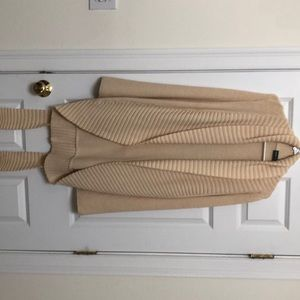 Goat library tan cardigan with belt